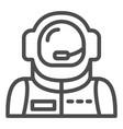 astronaut avatar line icon spaceman vector image vector image