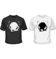 black and white t-shirt template with broken hole vector image