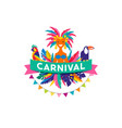 brazilian carnival poster vector image vector image