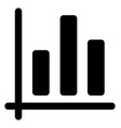 business bar chart vector image vector image