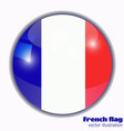 button with flag of france vector image