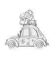 cartoon vehicle vector image