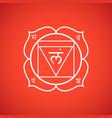 chakra muladhara symbol vector image