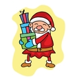 Character Santa and gift collection stock vector image vector image