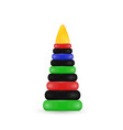 childrens toy pyramidcolored plastic pyramid vector image
