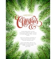 Christmas background with fir branches frame vector image vector image