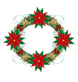 Christmas garland vector image vector image