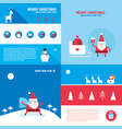 christmas new year banner set santa claus vector image vector image