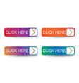 click here label with arrow vector image