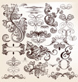 collection of decorative flourishes in vintage vector image vector image