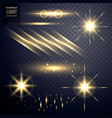 collection of transparent lens flares light vector image