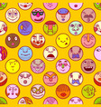colorful face avatar expression icons vector image vector image