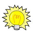 comic cartoon electric light bulb vector image vector image