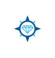 compass diamond logo icon design vector image vector image