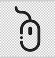 computer mouse icon on isolated transparent vector image
