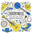 country music festival western holiday illu vector image vector image