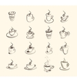 Cup of hot drink coffee tea etc big set vector image vector image