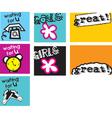 cute doodle icon vector image vector image
