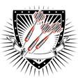 darts shield vector image vector image