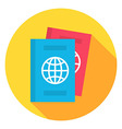 Document Passport Circle Icon vector image vector image
