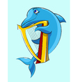 Dolphin harpist vector | Price: 1 Credit (USD $1)