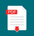 download pdf icon file with pdf label and down vector image