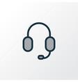 earphone colorful outline symbol premium quality vector image