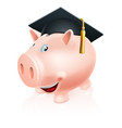 education savings piggy bank vector image