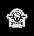 emblem of baseball champion team vector image vector image