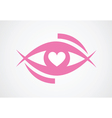 eye with heart vector image vector image