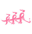 Field hockey breast cancer ribbon