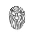 fingerprint or dactylogram the evidence in the vector image vector image