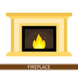 fireplace icon isolated vector image vector image