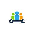 fix job logo icon design vector image vector image