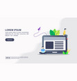 flat blog modern icon blogging management vector image vector image