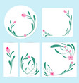floral cards and invitation collection vector image vector image