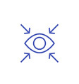 focus line icon with eye vector image