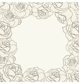 Frame with roses vector image vector image