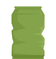 garbage energy drink tin icon flat isolated vector image vector image