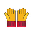 gloves flat vector image vector image