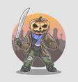 halloween pumpkin massacre vector image vector image