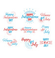 happy 4 th july and independence day vector image vector image