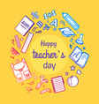 happy teachers day framed vector image