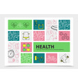 healthy lifestyle infographic concept vector image vector image