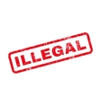 Illegal Text Rubber Stamp vector image vector image