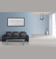 interior mockup living room with sofa vector image