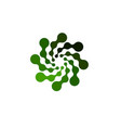 isolated abstract green color round shape logo on vector image vector image