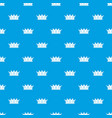 jewelry crown pattern seamless blue vector image vector image