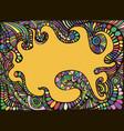 joyful rainbow doodle fun cartoon colorful vector image vector image