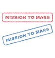 mission to mars textile stamps vector image vector image